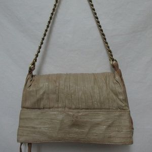Lucky Penny Anthropologie ruched leather purse bag